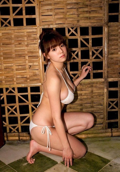 Young Japanese women in lingerie