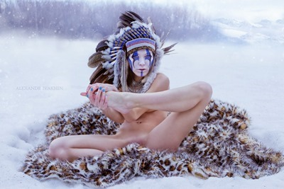 Naked girl Indian winter