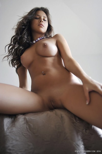 Young naked girl-brunette