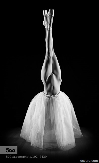 Ballerina bare pussy upside down