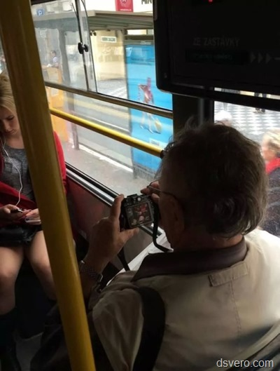 Grandfather in public transport