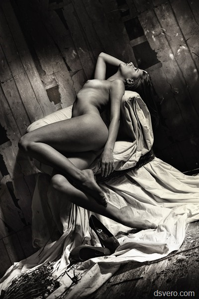 Black and white erotic photography