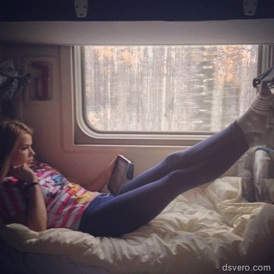 Sexy girls in trains