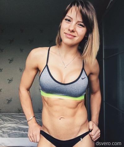 Pretty girls with muscles