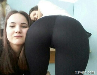 Beautiful ass in tights
